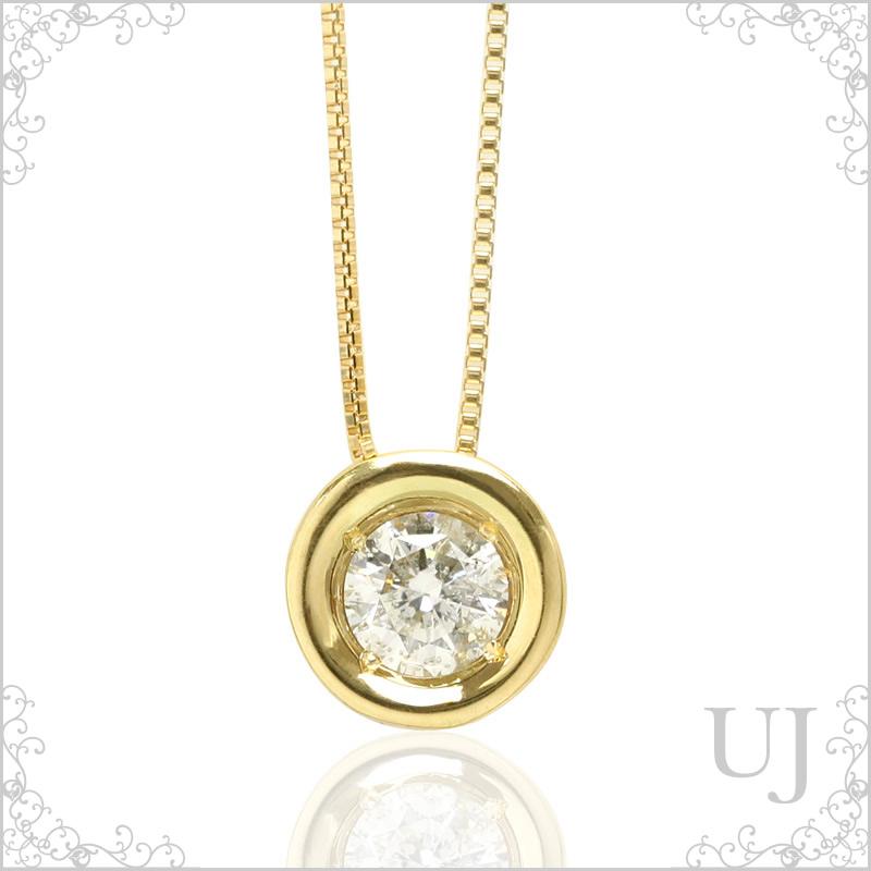 K18ゴールドネックレス 天然石ダイヤモンド0.3ct【送料無料】::3617【ジュエリー・アクセサリー > ジュエリー・アクセサリー用品】記念日向けギフトの通販サイト「バースデープレス」