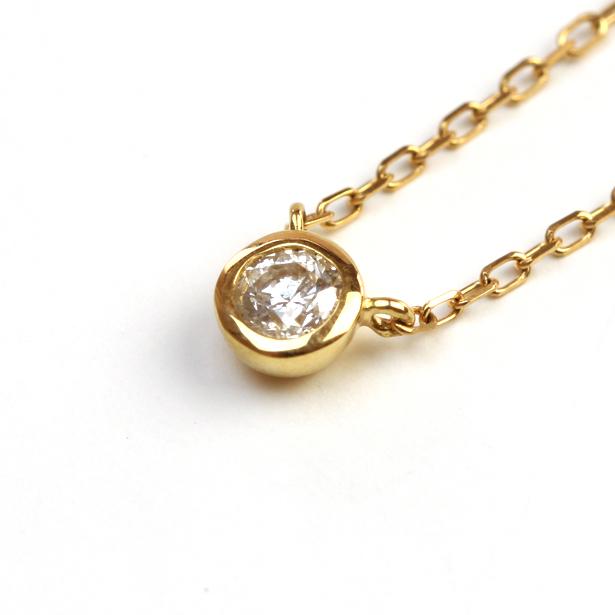 K18ゴールド 天然石ダイヤモンド 0.1ct一粒ネックレス【送料無料】::3617【ジュエリー・アクセサリー > ジュエリー・アクセサリー用品】記念日向けギフトの通販サイト「バースデープレス」