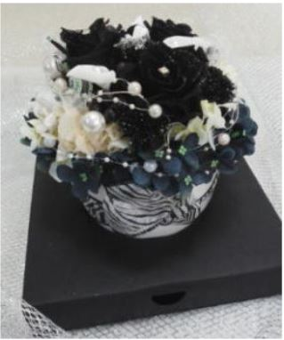 プリザーブドアレンジ(ブラック)::3644【花・ガーデン・DIY > フラワー】記念日向けギフトの通販サイト「バースデープレス」