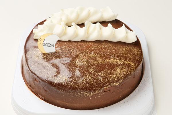 ガナッシュゴールド6号(卵・乳製品抜き)【アレルギー対応 誕生日 アレルギー  デコ バースデー ケーキ バースデーケーキ】の画像1枚目