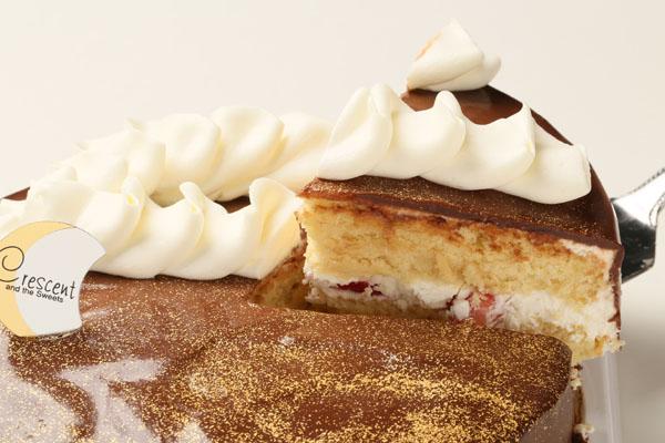 ガナッシュゴールド6号(卵・乳製品抜き)【アレルギー対応 誕生日 アレルギー  デコ バースデー ケーキ バースデーケーキ】の画像3枚目