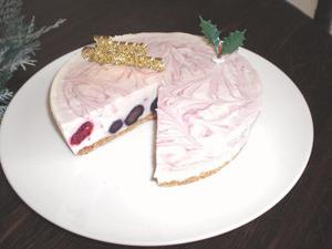 ブルーベリーのレアチーズケーキ4号(12cm)の画像1枚目