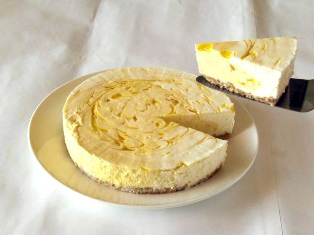 マンゴーレアチーズケーキ6号(18cm)【バースデーケーキ 誕生日ケーキ デコ バースデー】の画像1枚目
