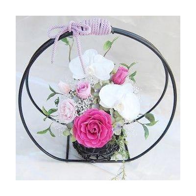 和風花籠胡蝶蘭とバラのアレンジ彩華 送料無料