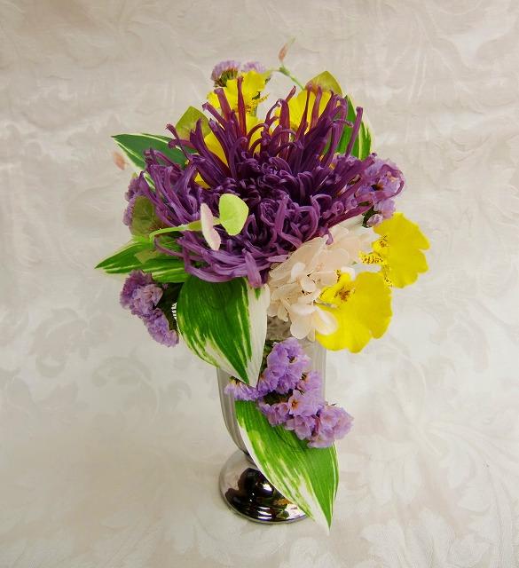 仏花 紫色の菊  憶い