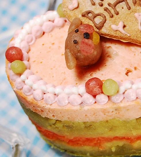 中・大型犬向け☆ハッピーLOVEフード【お魚のケーキ】オーダーオプション有りの画像2枚目