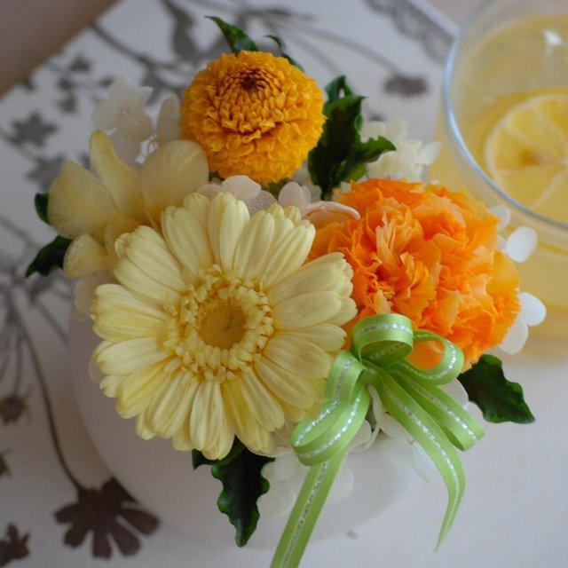 Sweet Yellow ガーベラアレンジ[ケース入]プリザーブドフラワー