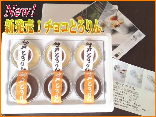 チョコとろりんプリン3個と神戸とろりんプリン3個の大人気セット♪