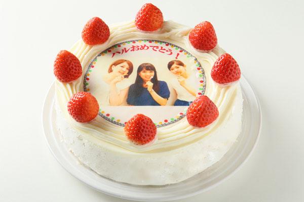冷蔵発送! イチゴつき写真ケーキ−写真をケーキに描きます− 5号(直径約15cm)  4〜5人用