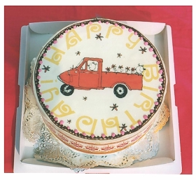 冷蔵発送の写真ケーキ 5号