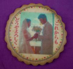 写真クッキー−クッキーに写真やイラスト等をフルカラーで直接プリント−60枚以上からお請け致します。