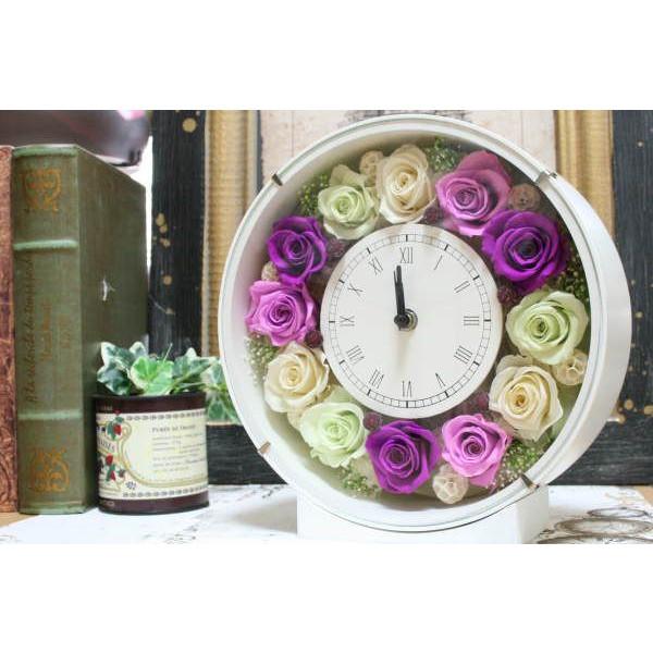 プリザーブドフラワー ギフト 送料無料 「花時計」 誕生日 ギフトに最適