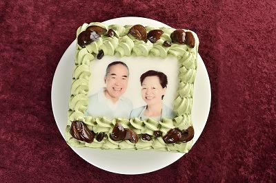 [写真ケーキ]抹茶Mサイズの画像2枚目