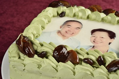 [写真ケーキ]抹茶Mサイズの画像3枚目
