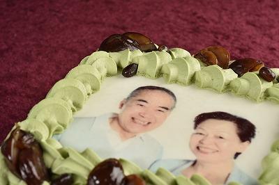 [写真ケーキ]抹茶Mサイズの画像4枚目