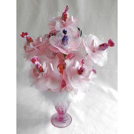 スイーツフラワーパフェ(ピンク)【誕生日 贈り物 プレゼント お祝い ギフト 花 フラワー】の画像1枚目
