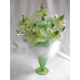 スイーツフラワーパフェ(緑)【誕生日 贈り物 プレゼント お祝い ギフト 花 フラワー】