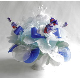 バラとスイーツフラワー ブルー(小)【誕生日 贈り物 プレゼント お祝い ギフト 花 フラワー】の画像1枚目
