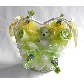 ハートフラワー(緑)【誕生日 贈り物 プレゼント お祝い ギフト 花 フラワー】の画像1枚目