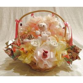 キャンディバスケット【誕生日 贈り物 プレゼント お祝い ギフト 花 フラワー】の画像1枚目