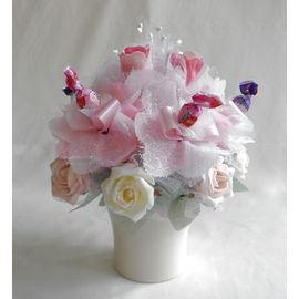 バラとスイーツフラワーB【誕生日 贈り物 プレゼント お祝い ギフト 花 フラワー】