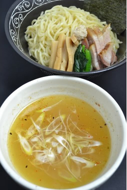 一本気鶏魚介つけめん(塩) 3食セット【お取り寄せ グルメ つけ麺 ラーメン】の画像1枚目