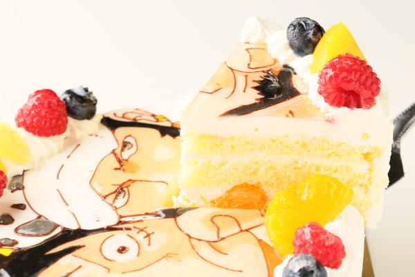 イラスト生クリームデコレーションケーキ 5号 15cmの画像6枚目