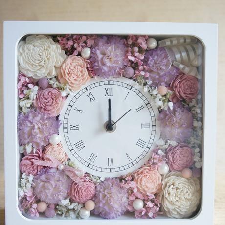 アニバーサリーギフトに♪カーネーションとローズの花時計