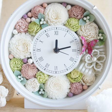 ウェディングのお祝に♪アニバーサリーギフトに♪花時計(ピンク)