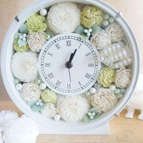 ウェディングのお祝に♪アニバーサリーギフトに♪花時計(グリーン)