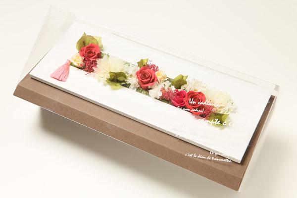母の日限定『a noeud-fleur(アヌー・フルール)』ウッドフレームアレンジ・ピンク
