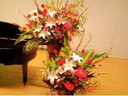 スタンド【コーンタイプ】2段 004【花 フラワー フラワーギフト 誕生日 プレゼント】