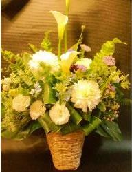 アレンジメントホワイト系 LL【花 フラワー フラワーギフト 誕生日 プレゼント】の画像1枚目