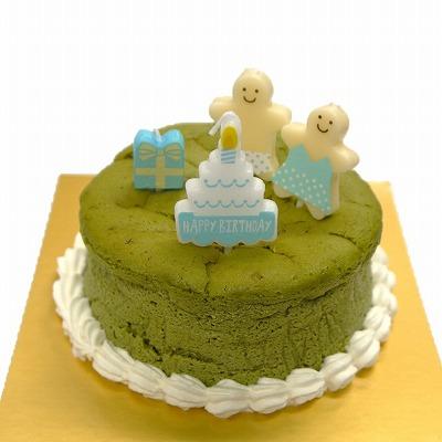 ハッピーバ-スデーキャンドル付き抹茶チーズスフレお誕生日ケーキ4号::640【スイーツ > 洋菓子】記念日向けギフトの通販サイト「バースデープレス」