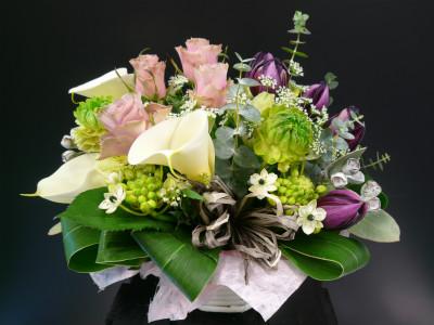 オシャレなあの人へ感謝を伝えます(1.2)【花 フラワー フラワーギフト 誕生日 プレゼント】の画像1枚目