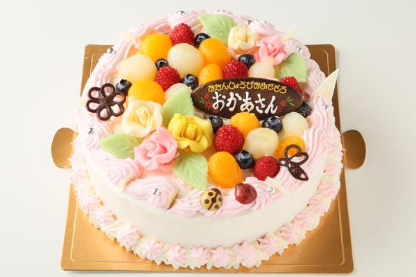 お花畑のケーキ6号(直径18cm)