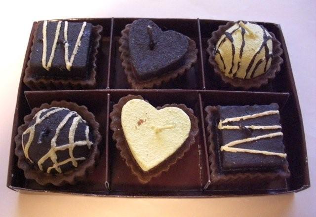 チョコレートキャンドル6P【プレゼント 贈り物 誕生日 記念日 インテリア】