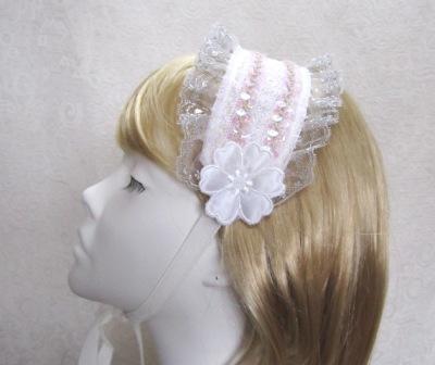 サテンフラワーのヘッドドレスの画像1枚目