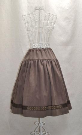 ココア色のスカートの画像1枚目