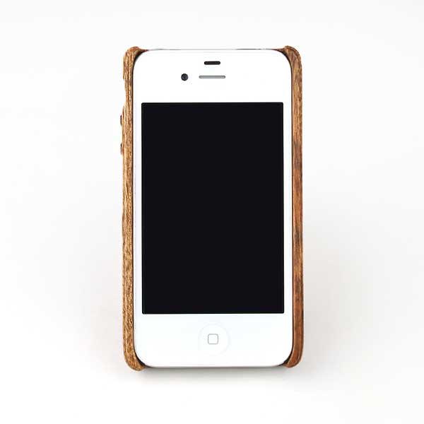 世界三大銘木マホガニー使用ハンドメイドiPhone 4Sケースカバー【誕生日 贈り物 プレゼント スマホケース 木製】の画像2枚目
