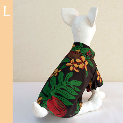 アロハシャツ|カラフル花柄【誕生日 贈り物 プレゼント ギフト ペット 愛犬 服】の画像1枚目