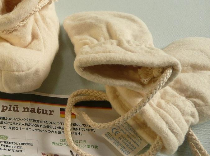 ドイツ生まれ。オーガニックコットンのふかふかベビーミトン【誕生日 バースデー 贈り物 プレゼント 内祝い 出産祝い ギフト 子供 衣類】の画像4枚目