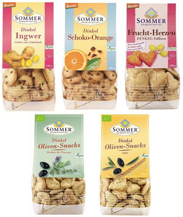 ドイツ生まれのゾマー オーガニッククッキー 5種類セット【誕生日 バースデー 贈り物 プレゼント お祝い ギフト 詰め合わせ】