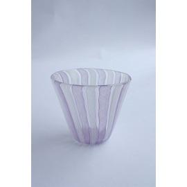 レースのコップ(ラベンダー/ホワイト)【誕生日 バースデー ギフト 贈り物 プレゼント お祝い ガラス 食器】の画像1枚目
