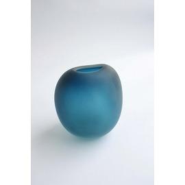 ブルー花器【誕生日 バースデー ギフト 贈り物 プレゼント お祝い ガラス 花瓶 花器】の画像1枚目