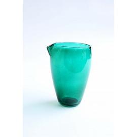 水差し(エメラルドグリーン)【誕生日 バースデー ギフト 贈り物 プレゼント お祝い ガラス 食器】の画像1枚目