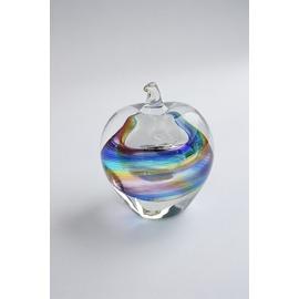 ペーパーウェイト(4色虹)【誕生日 バースデー ギフト 贈り物 プレゼント お祝い ガラス】の画像1枚目