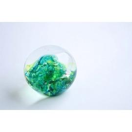 ペーパーウェイト(オリーブグリーン/グリーン)【誕生日 バースデー ギフト 贈り物 プレゼント お祝い ガラス】の画像1枚目