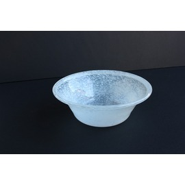 麺鉢(フリット 白)【誕生日 バースデー ギフト 贈り物 プレゼント お祝い ガラス 食器】の画像1枚目