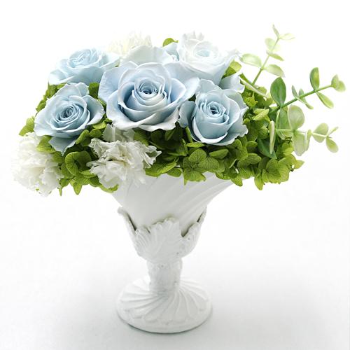 ウォーターブルー【プリザーブドフラワー アレンジメント フラワーギフト プレゼント ギフト】の画像1枚目